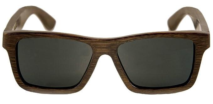 ca402bab7de Amazon.com  Swell Vision Coffee Brown Wood Bamboo Sunglasses Smoke ...