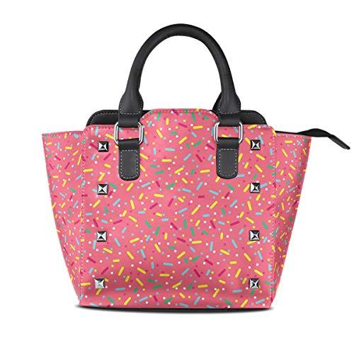 Cannabis Fashion Super Glazed Donuts Women Top Handle Satchel Handbags Shoulder Bag Tote Purse Messenger Bags