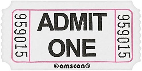 2000 Admit One Ticket Roll Single Stub Raffle Tickets