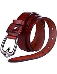 Beltox Fine Women's Genuine Leather Waist Belt 22MM Prong...