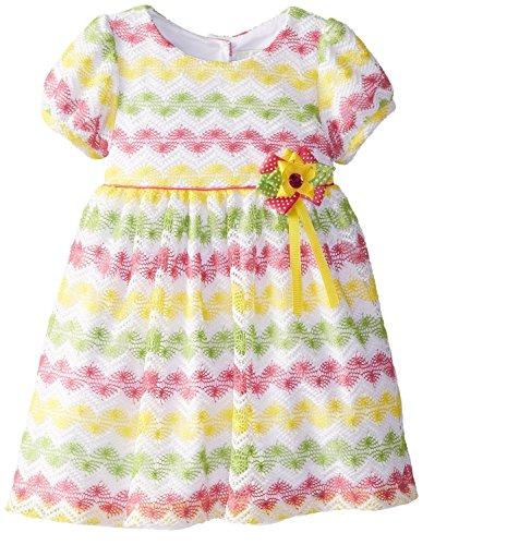 Rare Editions Toddler Girl Chevron Crocheted Dress (2T) (Girls Dress Crocheted)