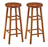 Winsome Wood Assembled 31-Inch Cherry Finish Swivel Stools, Set of 2 For Sale