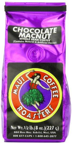 Maui Coffee Roasters Whole Bean Coffee, Chocolate Mac, 8-Ounce