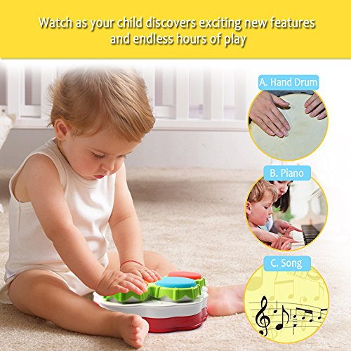 Musical toys, AMOSTING Music Piano Keyboard Drums Learning Toy Best Christmas Gift for Toddler Baby Kids Educational Game.