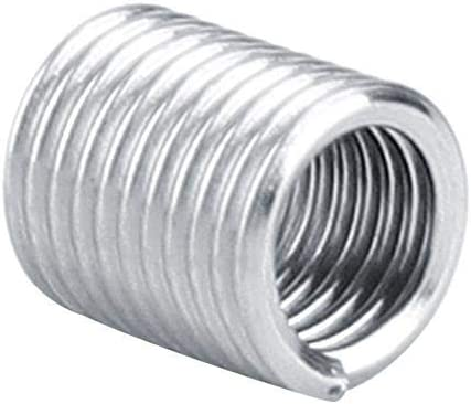 M4 Helicoil Thread Repair Stainless Steel SS304 Thread Insert Coiled Wire Insert Helical Insert Assortment M40.72D Helical Thread Insert Wal front 100Pcs Wire Insert Thread