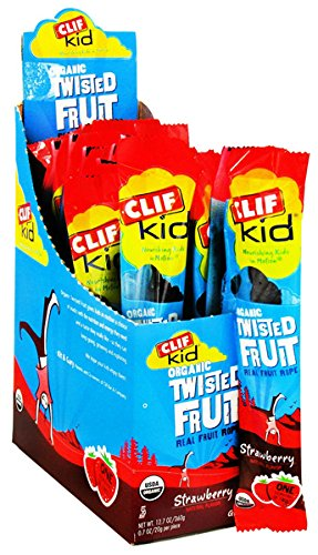 Clif Bars Clif Kid Organic Twisted Fruit Rope - Strawberry 18 Ct