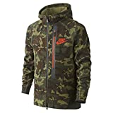 Nike Youth Boys Tech Fleece Allover Print Full-Zip Hoodie 716805-355 (Large) Camo Green