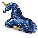 The Stardust Blue Unicorn Figurine: Handcrafted By Master Glass Artisans by The Hamilton Collection