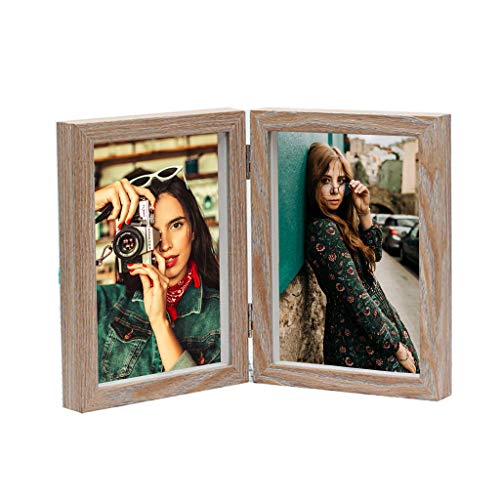 7' Shadow Box Picture Frame - 2 Wooden Photo Frame with Glass Front Made to Display with Shadow Box Vertically Show for Home Office Decor (5''x7'' Style 3)
