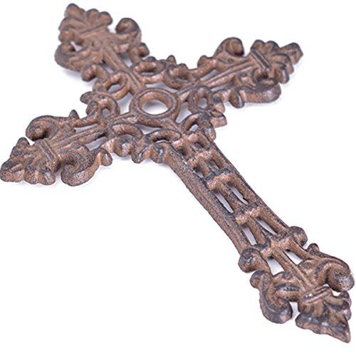Cast Iron Wall Cross (Roux Brands - 6.75