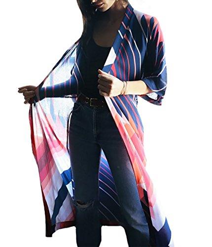 b6e6d24d5f06d Bestyou Women's Long Kimono Jacket Cardigan Beach Maxi Dress Bathing Suit  Bikini Swimsuit Cover Up Swimwear