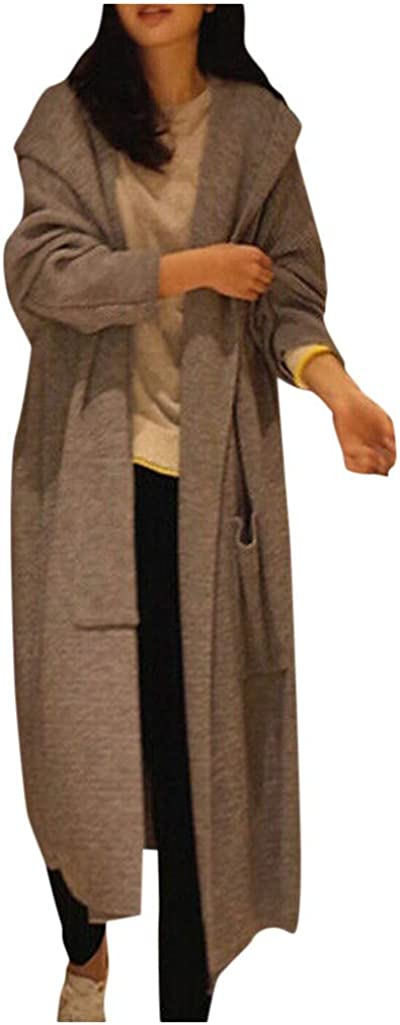 Womens Oversized Sweater Casual Outwear Coat Jacket Long Sleeve Knitted Cardigan