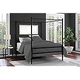 Amazon Com Black Metal Sunburst Canopy Bed Full Size Bed