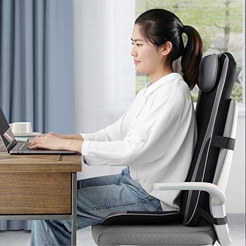 Naipo Shiatsu Back Massager Seat Cushion with Heat, Deep Kneading, Rolling and Vibrating for Full Back Pain Relief