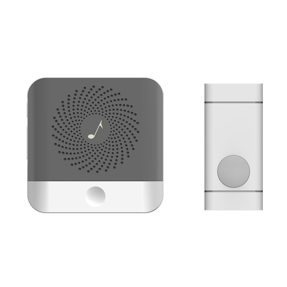 Joso Wireless Wi-Fi Doorbell, Door bell Kit Operating Rand at 1000 feet with 52 Chimes & 4 Level Volume LED Flash, 1 Waterproof Remote Button & 1 Plug-in Receiver for Home/Office