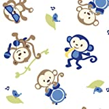 Summer Infant Swaddleme Adjustable Infant Wrap Blanket, Monkey Band