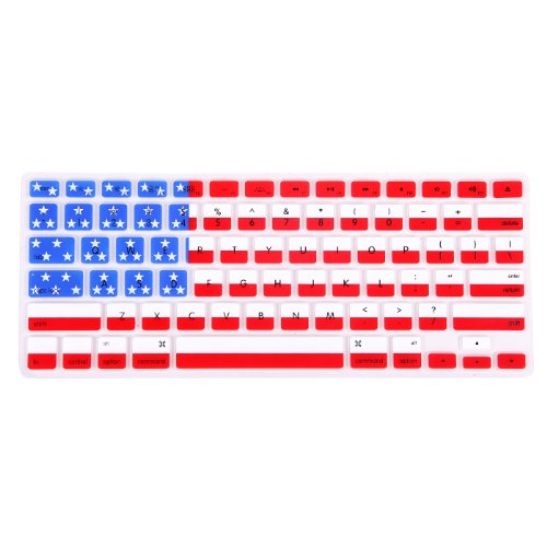 ne Rubber Keyboard Skin Cover for Macbook Pro Non Retina 13/15/17 (American Flag) (Silicone Flag)