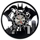 Superman VS Batman Art Vinyl Wall Clock Gift Room Modern Home Record Decoration Vintage For Sale