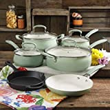 The Pioneer Woman Classic Belly Gradient Mint 10-Piece Cookware Set