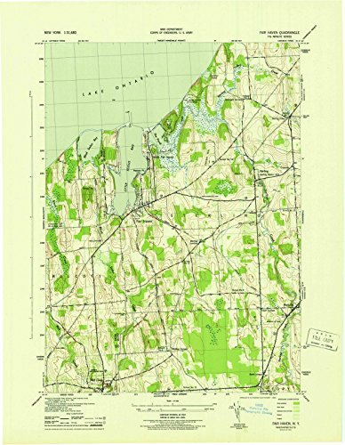 New York Maps | 1943 Fair Haven, NY USGS Historical Topographic Map |Fine Art Cartography Reproduction Print