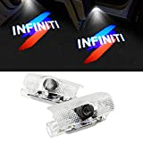 Likecar 2 Pcs Car Door Logo Light Projection Ghost Shadow Light Vivid Welcome Lamp (for Infiniti Color)