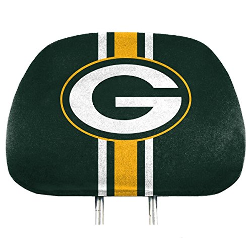 (NFL Green Bay Packers Full-Print Head Rest Covers, 2-Pack)
