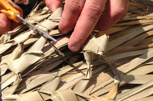 Tiki Bar Palm Thatch Grass Bundle (4 pieces - each sheet is 5'H x 4'W) by Caribbean (Image #3)