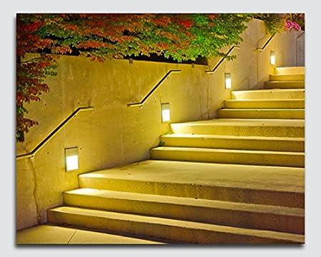 Luz de escaleras/pasos lienzo con luces LED – Regalo perfecto – 12 x 16 inch: Amazon.es: Hogar
