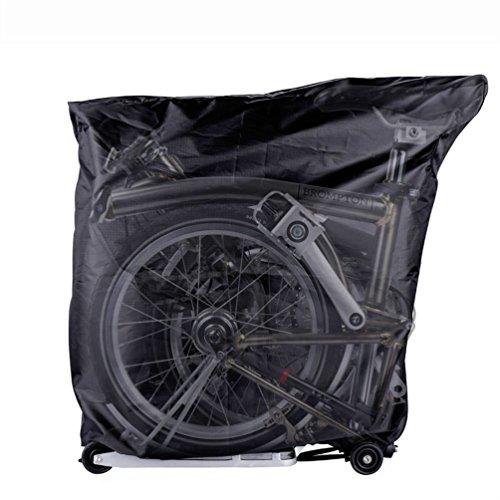 RockBros Bicycle Storage Cover with Handlebar Bag For Brompton Bikes Black (Bicycle Brompton Folding)