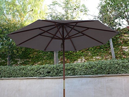 9ft Market Umbrella Replacement Canopy 8 Ribs Taupe (Canopy Only)