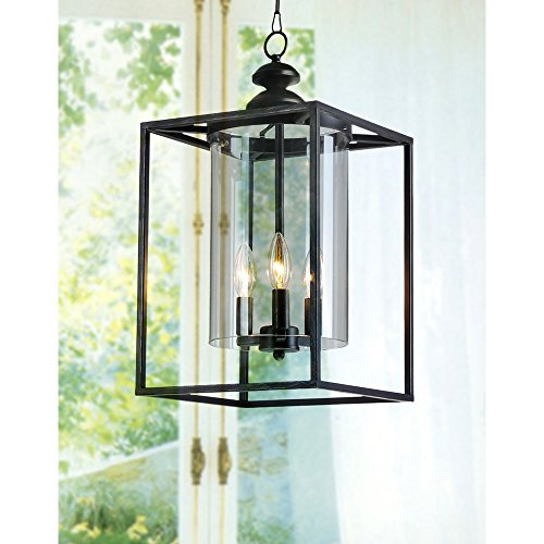 Jojospring La Pedriza Antique 3-light Glass and Chandelier