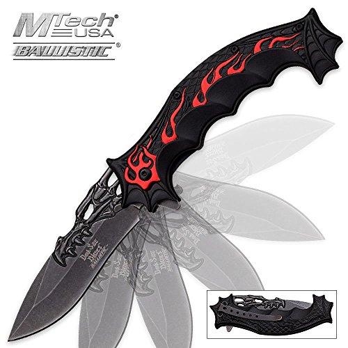 Dark Side Dragon Red Flame Assisted Opening Folding Pocket K