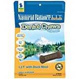 Natural Balance Dental Chews Dog Treats, L.I.T. Limited Ingredient Treats Duck Meal Formula, Grain Free, For Small Dogs, 13-Ounce