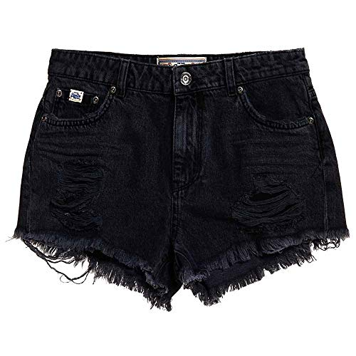 Superdry Shorts Damen Eliza Cut Off Short Bronco Black