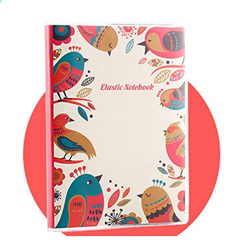 Singing Bird Spiral Notebook Diary Journal Writing Memo Notepad Record Book with Waterproof Cover, A6 Size/54 Sheets