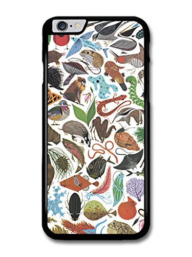 Wild Animal Print with Fish Badger and Monkey Pattern Design case for iPhone 6 Plus 6S Plus