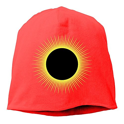 No4lrm Men And Women Solar Eclipse Warm Stretchy Daily Beanie Hat Skull Cap Outdoor Winter