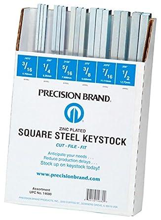60 pc Keystock Bar Assortment SAE Square Key Stock Keyway Set