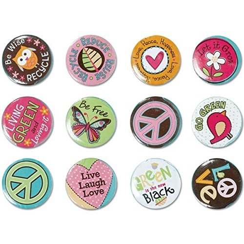 Hippie Chick Buttons - 3