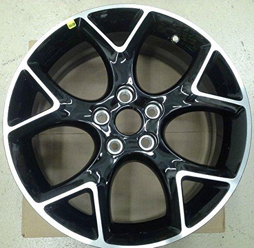 "Oem Factory Genuine Stock 2012 2013 2014 Ford Focus Black Ebony Aluminum Rim Wheel 17"" x 7"" w Center Cap & Chrome Lug Nuts"