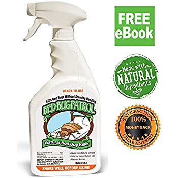 Bed Bug Killer Bed Bug Patrol 100% Environmentally Friendly, Family & Pet Safe Bed Bug Spray, eBook!