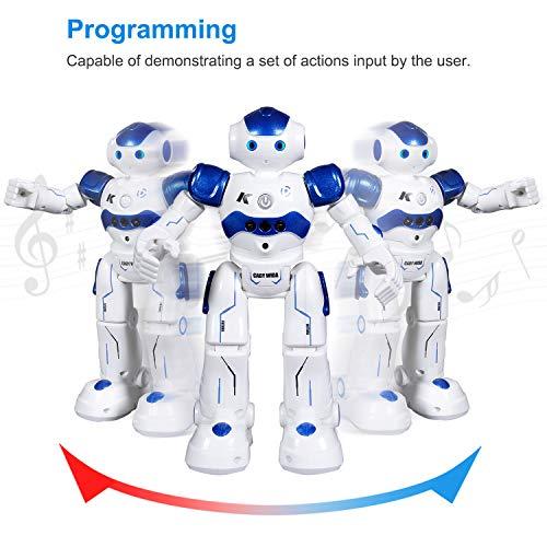 SGILE Remote Control Robot, Gesture Sensing Robot Toy Kit, RC Programmable Educational Robot for Kids Birthday Gift Present, Interactive Walking Singing Dancing Smart Intelligent Robotics for Kids Boy