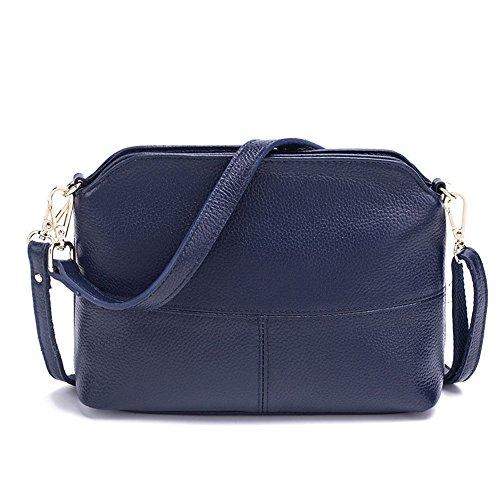 GWQGZ Nueva Moda Lady'S Inclinado Y Bolsa Bolso Simple Gris Blue
