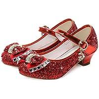 Waloka Flower Girls Dress Wedding Party Bridesmaids Heel Mary Jane Princess Shoes
