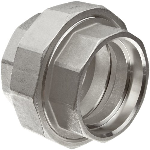 Stainless Steel 316 Cast Pipe Fitting, Union, Socket Weld, MSS SP-114, 1/2