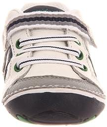 Stride Rite Soft Motion Artie Sneaker (Infant/Toddler),White/Navy,3 XW US Infant