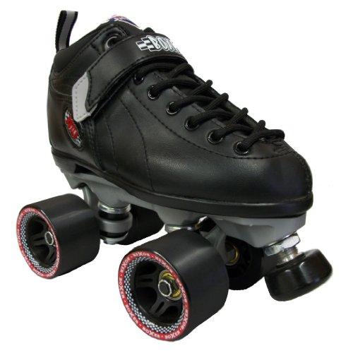 Sure Grip Speed Boxer Quad Roller Skates (Black, 4)