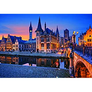 1000 Piece Large Jigsaw Puzzle - Ghent, Belgium - Puzzles for Adults and Teens - 29x20 Inches