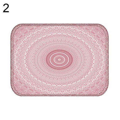 Mat Kitchen - 40 60cm Geometric Oval Heart Soft Anti Slip Door Mat Entrance Rug Home Carpet Toilet Useful - Side Urban Plastic Cute Just Plaid Tire Dark Super Floral Novelty Poster Shall M ()