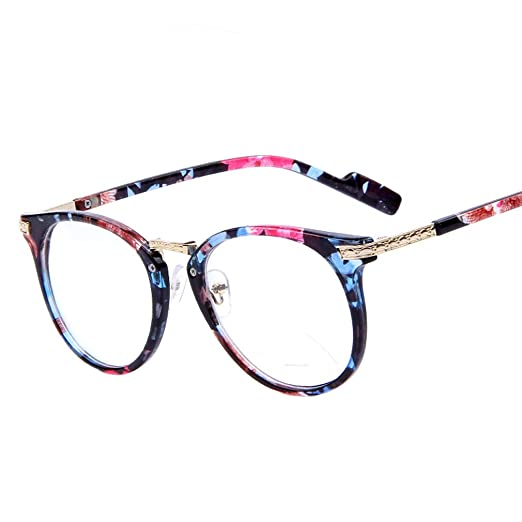 Computer Fashion Arm Frame Glasses Eye Round Women Eyeglasses 2015 Metal Optical Retro H9EDIYW2